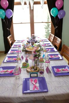 Guest Table Display from a Girl Themed Lego Party via Kara's Party Ideas | KarasPartyIdeas.com (32)