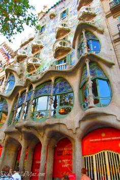 Casa Batllo in Barcelona, Spain #casabatllo #barcelona #spain