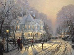 A Holiday Gathering - Kinkade