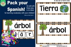 Classroom Freebies: Día de la tierra - letter tiles