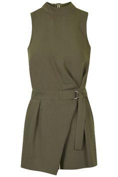 Topshop Khaki Green Playsuit http://rstyle.me/n/vv338bcukx #dashingwishlist
