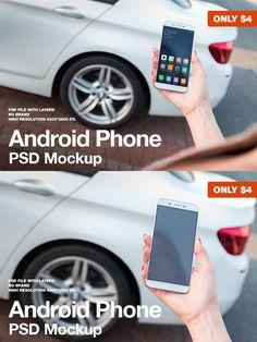 Android Phone Lifestyle Mockup. Product Mockups. $4.00