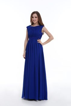 8e366132afe Royal Blue Beaded Belt Evening Dress