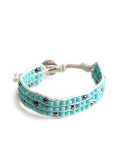 Woven Teal Bracelet $10.00