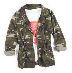 Camo Shirt Jacket