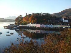 The very beautiful Portree in the Isle of Skye