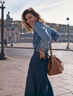 Andrea Diaconu in Paris Fashion Week Spring/Summer 2015 | Vogue Spain February 2015 (photography: Benny Horne, styling: Sara Fernandez)