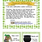 This is a St. Patrick's Day game that practices solving subtraction number sentences.Directions:  Place all cards in a St. Patrick's Day hat or...