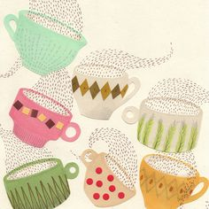 Print, Coffee Cups, from Sandra Juto.