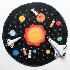 Your place to buy and sell all things handmade Felt Play Mat, Play Mats, Felt Projects, Sewing Projects, Road Trip Crafts, Craft Tutorials, Craft Ideas, Mini Mundo, Activities For Kids