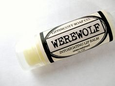 Werewolf Lip Balm Unsweetened Lip Balm by LippincottSoapCo on Etsy