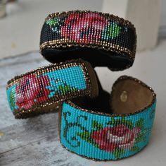 Hand Beaded Cuff Bracelets