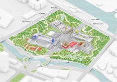 MVRDV wins competition to complete zhangjiang future park in shanghai Green Roof System, Terrace Floor, Win Competitions, International Companies, Sport Hall, Roof Architecture, Glass Facades, Roofing Contractors, Roof Repair