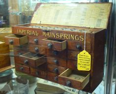 watchmakers cabinet | this was a really amazing watchmakers cabinet unfortunately it was