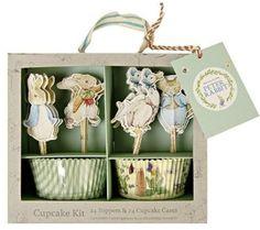 A Peter Rabbit cupcake decoration kit for the Beatrix Potter fan.