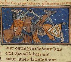 animals fighting: Le Roman de Renart