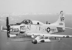 U.S. Navy Squadron VAW-13 Flying a Douglas AD-5 Skyraider (3-4 Men), equipped for Electronic Counter Measures