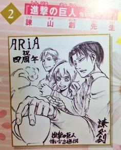 Isayama draws the ACWNR trio
