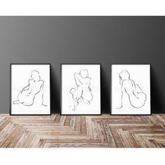 01B-02L-03R black and white female figure drawing minimalist
