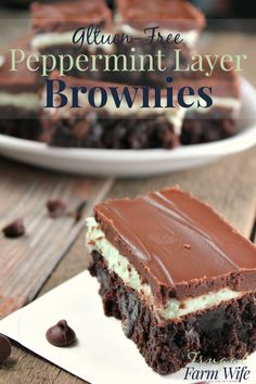 These gluten-free peppermint layer brownies are SOO delicious! I don't think I've ever had anything more decadents, and they're so easy to make! #ad