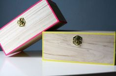 Tables Neon Edge Boxes w/ washi tape