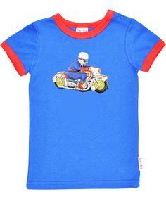 Baba Babywear blauwe t-shirt met politie patrouille. baba-babywear.nl.emilea.be