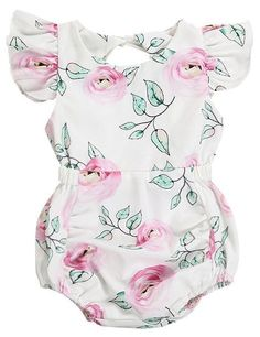 I love this dainty rose print toddler girl romper. The flutter sleeves are to die for. - June 22 2019 at Twin Baby Clothes, Stylish Baby Clothes, Stylish Baby Girls, Cool Kids Clothes, Organic Baby Clothes, New Baby Girls, Trendy Baby, Trendy Kids, Babies Clothes