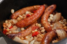 Italian Sausage, White Bean and Hominy Cassoulet - Easy and yummy!