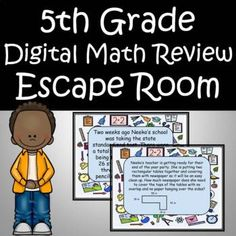 5th Grade Classroom, 5th Grade Math, Mega Math, Math Task Cards, Math Word Problems, Escape Room, Elementary Teacher, 5th Grades, Classroom Resources