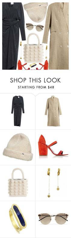 """""""Untitled #6985"""" by amberelb ❤ liked on Polyvore featuring Golden Goose, Wood Wood, Rachel Comey, Shrimps, Bark, Monica Vinader and Jimmy Choo"""