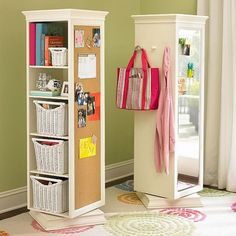 We can always mount your cubbies on a lazy Susan & attach a letter organizer to each side