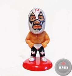 NJPW AJPW Mil Mascaras B Mini Big Head Figure WCW WWF WWE CMLL LUCHA LJN  POPY  CharacterProduct 0b7442562b4