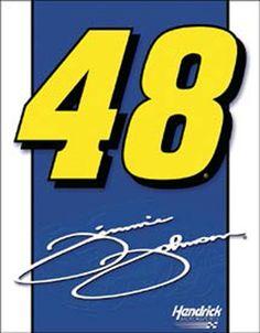 NASCAR Jimmie Johnson Tin Sign 48 Logo | eBay