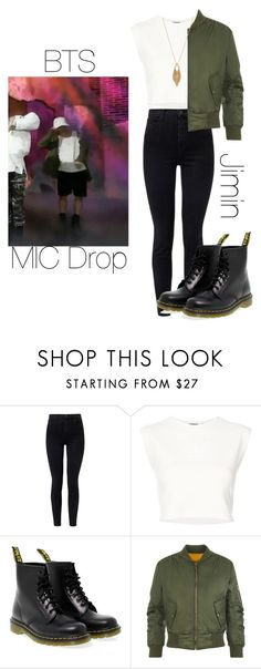 """""""BTS MIC Drop Jimin inspired outfit"""" by melaniecrybabyz on Polyvore featuring J Brand, Puma, Dr. Martens, WearAll and Jessica Simpson"""