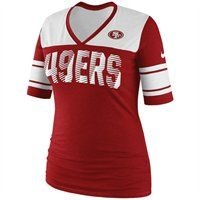 Nike San Francisco 49ers Ladies Touchdown Tri-Blend V-Neck T-Shirt
