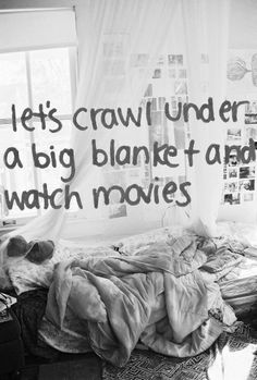 Let's crawl under a big blanket and watch movies viatheuniversityffproject #Relax