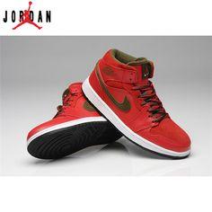 8f351df0d17 554724-005 Air Jordan 1 Mens Mid Black Varsity Fire Red Shoes,Jordan ...