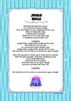 Jingle Bells | Kids Video Song with FREE Lyrics & Activities! Christmas Carols Songs, Christmas Songs Lyrics, Christmas Poems, Christmas Music, Kids Christmas, Christmas Cards, Carol Lyrics, Carol Songs, Song Lyrics