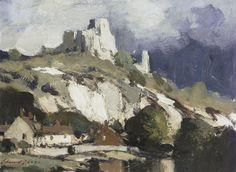 Edward Seago. Chateau Gaillard, Petit Andely - France