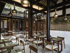 Teahouse at the Temple House Boutique Hotel, Chengdu, China