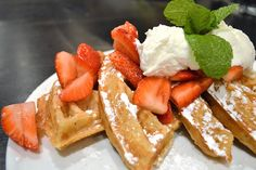 Allison enjoyed her waffles, they were sweet, light, and fluffy. I had a bite and they were really yummy, not too sweet and they didn't need syrup. Rockit Brunch
