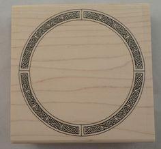 CELTIC IRISH KELLS CIRCLE KNOT BORDER FRAME WOODEN RUBBER STAMP Q-101 #HighlanderCelticStamps #Q101 Celtic Images, Stamp Printing, Irish Celtic, Knot, Badge, Frame, Crafts, Ebay, Ideas