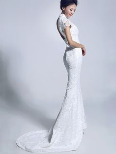 Bridal Trend Asia Post Detail page. Pakistani Bridal Dresses, Bridal Wedding Dresses, Lace Wedding, Dream Wedding, Red White Wedding Dress, Japanese Wedding, Wedding Prep, Wedding Ideas, Formal Dresses