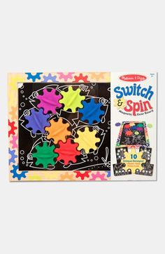 Melissa & Doug 'Switch & Spin' Magnetic Gear Board   Nordstrom