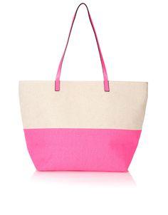 Honeymoon Neon Beach Tote Bag | Pink | Accessorize
