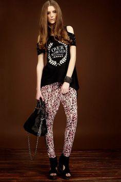 Summer Leopard Printing Harem Pants with Oversized Pockets