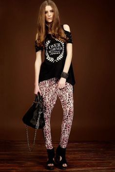 Summer Leopard Printing Harem Pants with Oversized Pockets