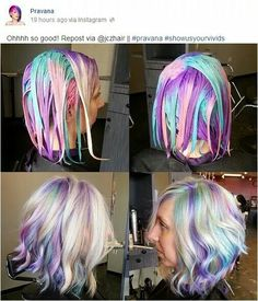Beautiful multicolor with Pravana