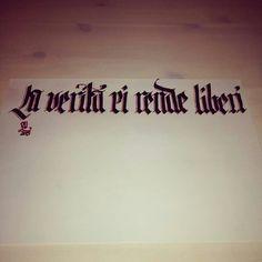 La verità ci rende liberi, Sketch by #graffiticoncepts