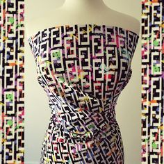 21be860ac Spandex Fabric, Fendi Splatter Designer Inspired Fabric 4Way Stretch Lycra  Knit Spandex By The Yard 58